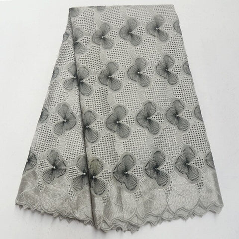 Image of Army Green Swiss Lace Fabric 2018 Swiss Voile Lace In Switzerland High Quality African Dry Cotton Voile Lace Fabric IG263