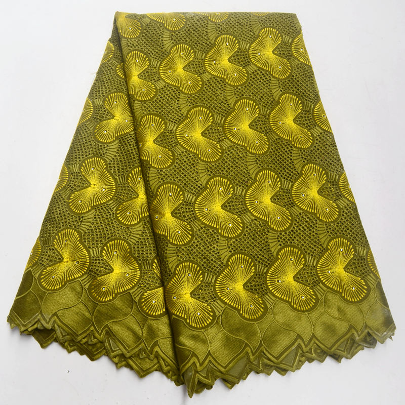 Army Green Swiss Lace Fabric 2018 Swiss Voile Lace In Switzerland High Quality African Dry Cotton Voile Lace Fabric IG263