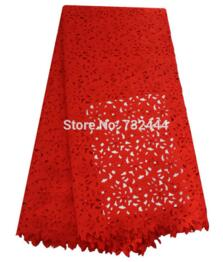 Beaded laser cut lace fabric high quality fushia pink african lace fabrics for sewing accessories with stones laser cut