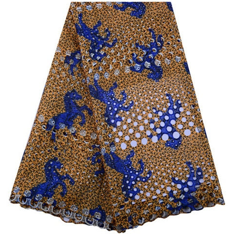 Image of Beautiful African Lace Fabric  Swiss printing  Lace High Quality  French printing  Mesh 2019 French Lace Fabric  A1440