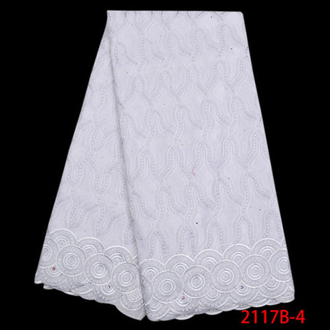 Image of Beautiful Fashion African Cotton Lace Fabric High Quality Swiss Voile Lace Fabric Latest Dry Lace Fabric For Party Dress NA2117B