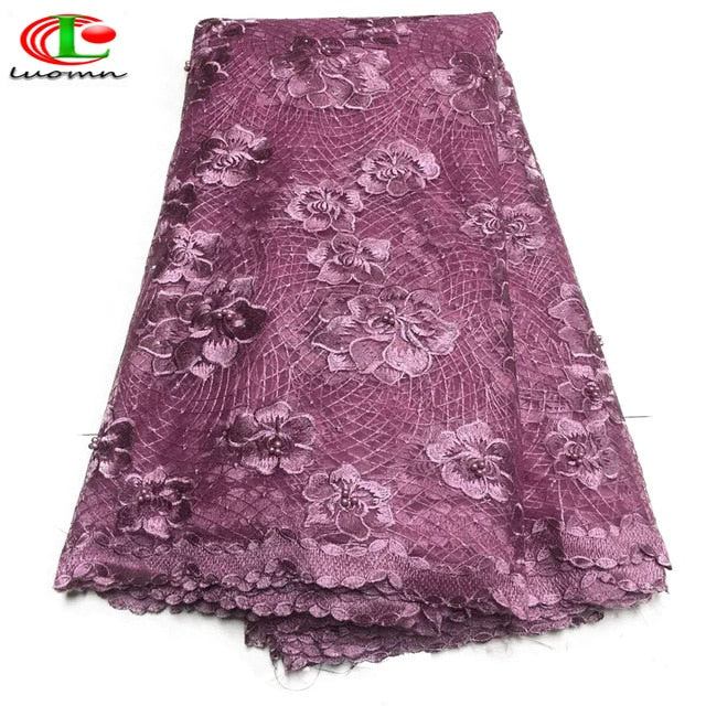 Best Selling Swiss voile laces African Lace Fabric Lilac colour Nigerian French Fabric 2019 High Quality Nigeria Tulle cord Lace
