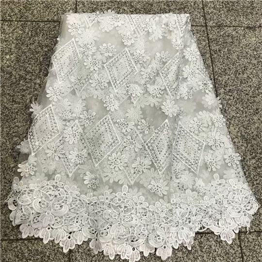 Best Selling Water Soluble Lace Guipure Cord Lace Tulle Lace Fabric With Beads/Stones For Accessories Wedding Clothing NLY38-3