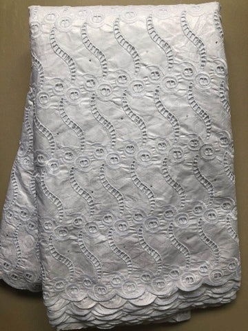 Image of Bestway Bazin Riche Getzner New 2020 African Lace Fabric 5 Yards High Quality Swiss Cotton Voile Borer Embroidery Lace Material