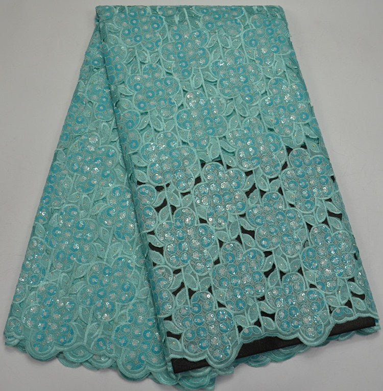 Bridal African green Fabric 2018 High Quality Lace French Sequin Lace Applique Lace Cheap French Nigerian Lace Fabrics