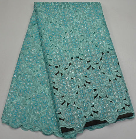 Image of Bridal African green Fabric 2018 High Quality Lace French Sequin Lace Applique Lace Cheap French Nigerian Lace Fabrics