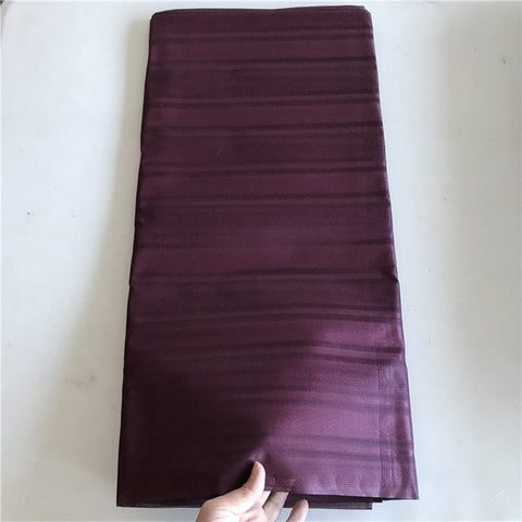 Image of Burgundy New Color Nigerian Real Cotton Atiku Lace For Men Cloth Atiku Fabric 5 Yards One Piece Atiku Material For Men 30