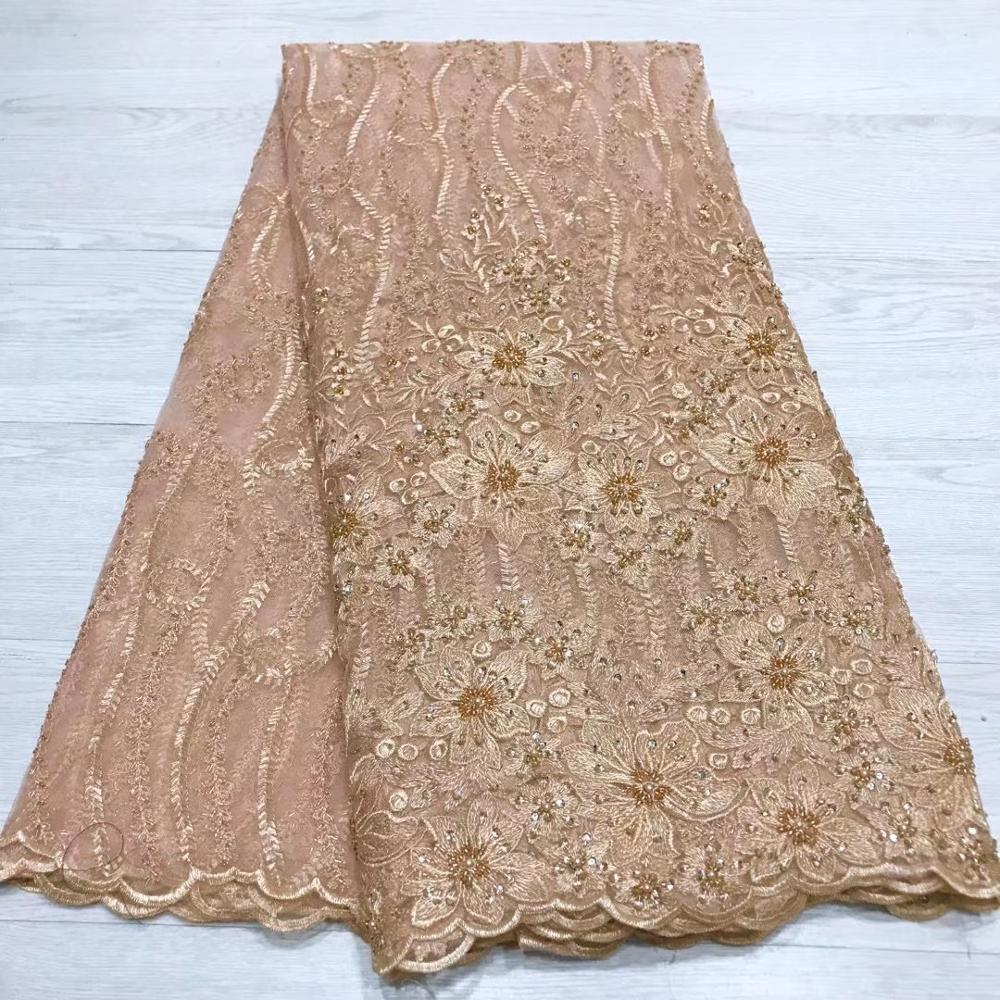 Latest African Lace Fabric High Quality Lace Gold Trim French Lace Fabric White Lace Fabrics For African Parties