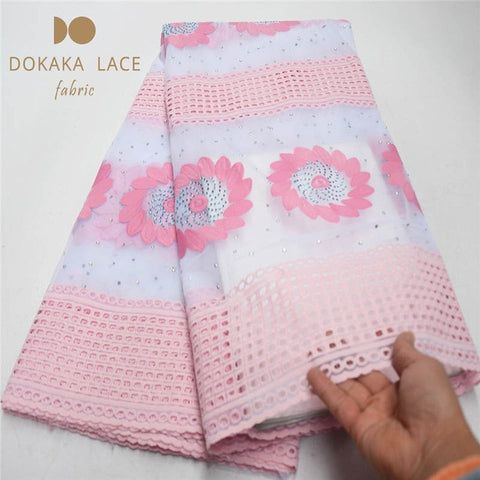 Image of Classical Chiffon Flower Rhinestones Design Indian Net Lace Fabric With Shining Stones Guinea Laces For Wedding Party Sewing