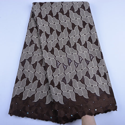 Cotton Lace In Switzerland High Quality African Swiss Voile Lace Fabric With Stones Embroidery Dry Lace Fabric For Party A1383