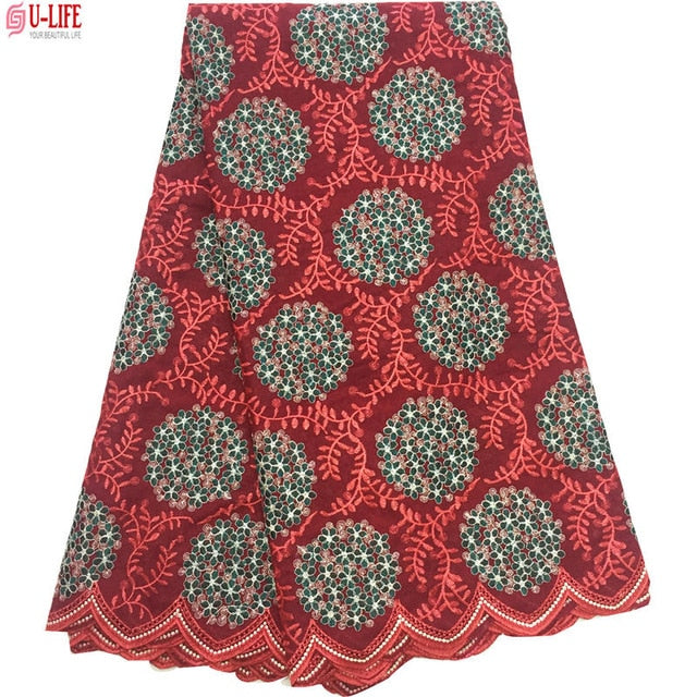 Dubai Swiss Voile Cotton Lace Fabric 2018 Simple African Swiss voile lace in switzerland High Quality Swiss Dry Laces CL-010