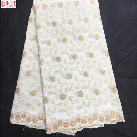 Image of Dubai Swiss Voile Cotton Lace Fabric 2018 Simple African Swiss voile lace in switzerland High Quality Swiss Dry Laces CL-010
