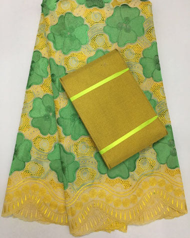 Image of FREE SHIPPING BY DHL NAX021   african lace fabric 100% cottonSWISS VOILE LACE match aso-oke  headtie