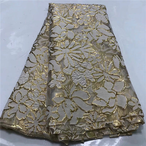 Fashion African Lace Fabric High Quality African 3D Lace Fabric With Sequins For Nigerian Wedding Dress French Lace Fabric WD031