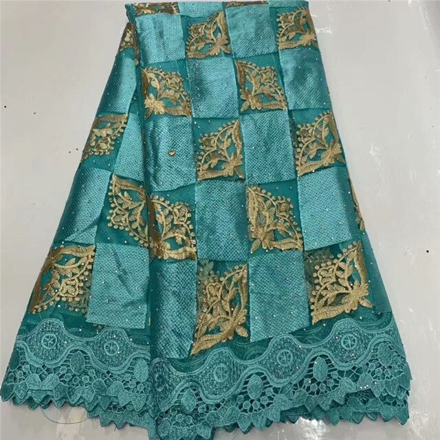 Fashion African Lace Fabric High Quality African 3D Lace Fabric With Sequins For Nigerian Wedding Dress French Lace Fabric WD111