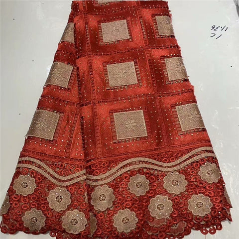 Fashion African Lace Fabric High Quality African 3D Lace Fabric With Sequins For Nigerian Wedding Dress French Lace Fabric WD115