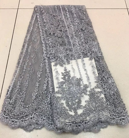 Image of French tulle lace lace fabric 2018 high quality African French tulle lace French lace fabric RF2577