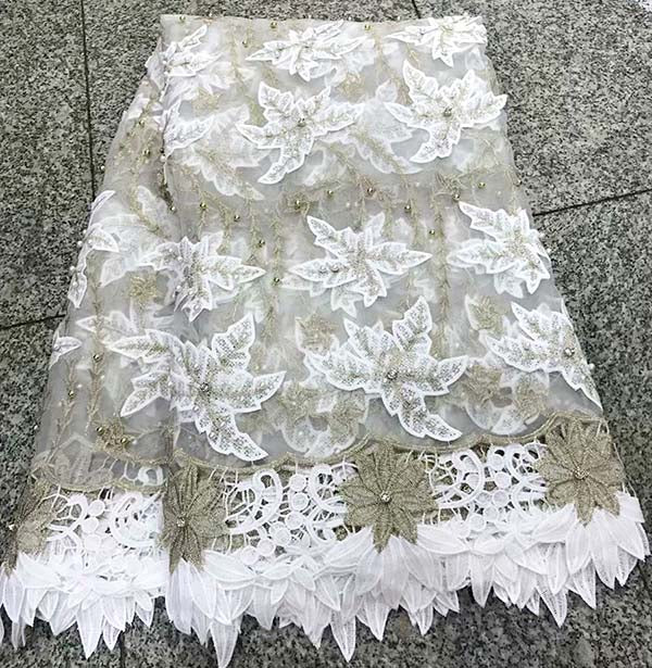 Green African Lace Fabric 2018 Embroidered Nigerian Laces Fabric Bridal High Quality French 3D Tulle Lace Fabric For Women dress