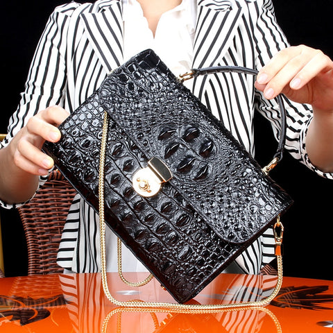 Crocodile Single Shoulder Satchel Small Square Package luxury handbags women messenger crossbody ladies hand bags designer femme