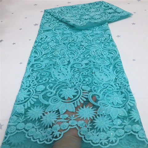 African tulle Lace Fabric With Sequins white 2020 green latest Latest Fabric High Quality Mesh cord Lace for Dress Cheap Sales