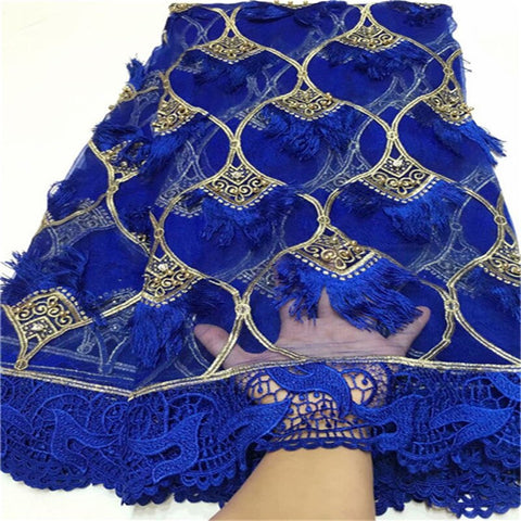 Image of 2021 High Quality African French Lace Fabric With Sequins Nigerian Net Lace Fabric Pure White Milk Silk 3D Lace For Party