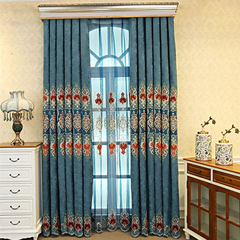 Slow Soul Velvet Fabric Europe Luxury Curtains For Living Room Bedroom Blue Coffee Purple Drapes Blackout 3d Floral Embroidered