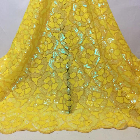 African Sequins Net Mesh Lace Fabric High Quality Lace 2020  Voile Lace French Tulle Lace Nigerian Bead Lace Fabrics For Wedding