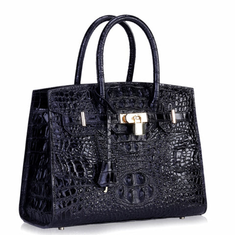 Image of Crocodile Package Woman Single Shoulder Genuine Leather Messenger crossbody ladies hand designer luxury women handbag beach bag