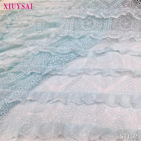 Blue French Lace Fabric Nigerian Lace Fabric 5 Yards African Fabric Embroidery Tulle Lace Fabric for Party Dress SL1152