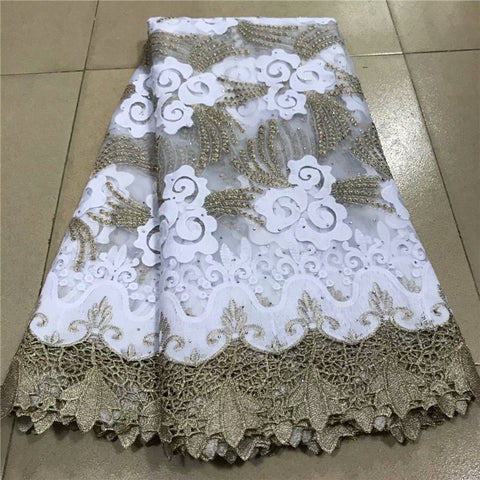 Multicolor Nigerian Mesh Net Lace Fabric African Sequins Lace Fabric High Quality French Mesh Tulle Lace Fabric with Sequins