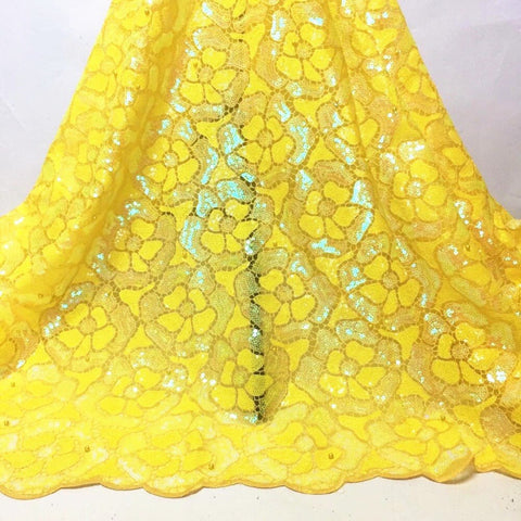 African Organza Lace Fabric 2020 High Quality French Mesh Lace Fabric With Sequins Nigerian Lace Fabric For Wedding Dress