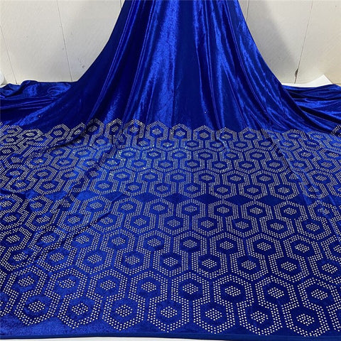 african Velvet Lace fabric with top class stones 2020 Latest Nigerian velvet Lace for Wedding Dresses High Quality lace material