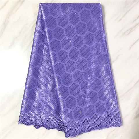 New african lace fabric high quality swiss voile Lace women dress material cotton lace 5yards
