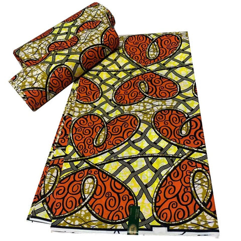 Image of Blesing original wax african print fabric african fabric 2010 tissue african wax print fabric for dresses