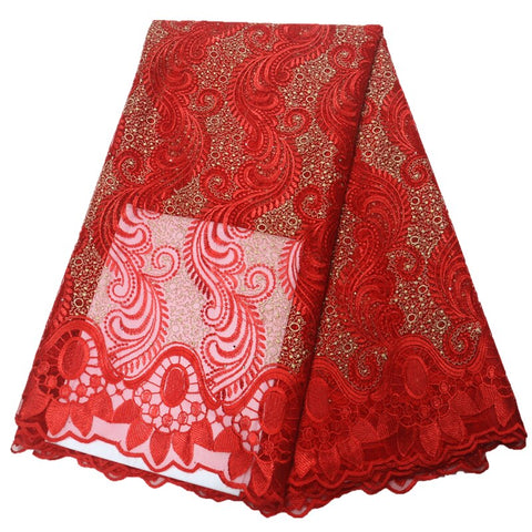 Image of wholesale latest african lace fabric 2020 high quality lace fabric african fabric nigerian french lace fabric with stones
