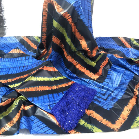 Newest bazin riche brocade fabric African Soft atiku bazin lace with tassel 5+2yard/set BT30
