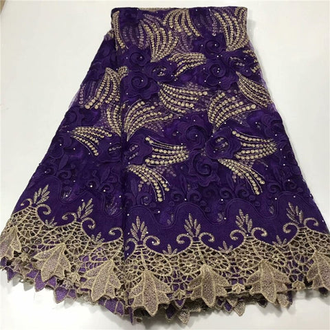 (5yards/pc) wine/gold soft African velvet lace fabric in purple with beautiful multicolored sequins embroidery for party dress