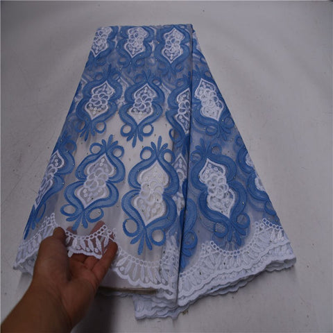 Image of African tulle Lace Fabric With Sequins white 2020 green latest Latest Fabric High Quality Mesh cord Lace for Dress Cheap Sales