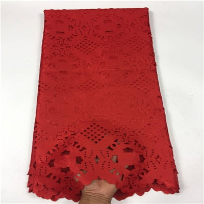 Image of HFX Latest Paper Lace Embroidered Laser Cut Lace Africa Lace High Quality Lace Fabric For Nigeria Wedding  X1066-1