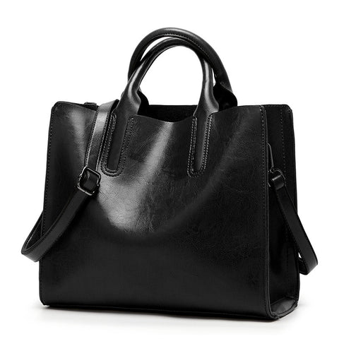 Oil Wax Leather Women's Tote Large-capacity Women shoulder bag Classic Casual Tote bags for women 2019 bolsa feminina new C836