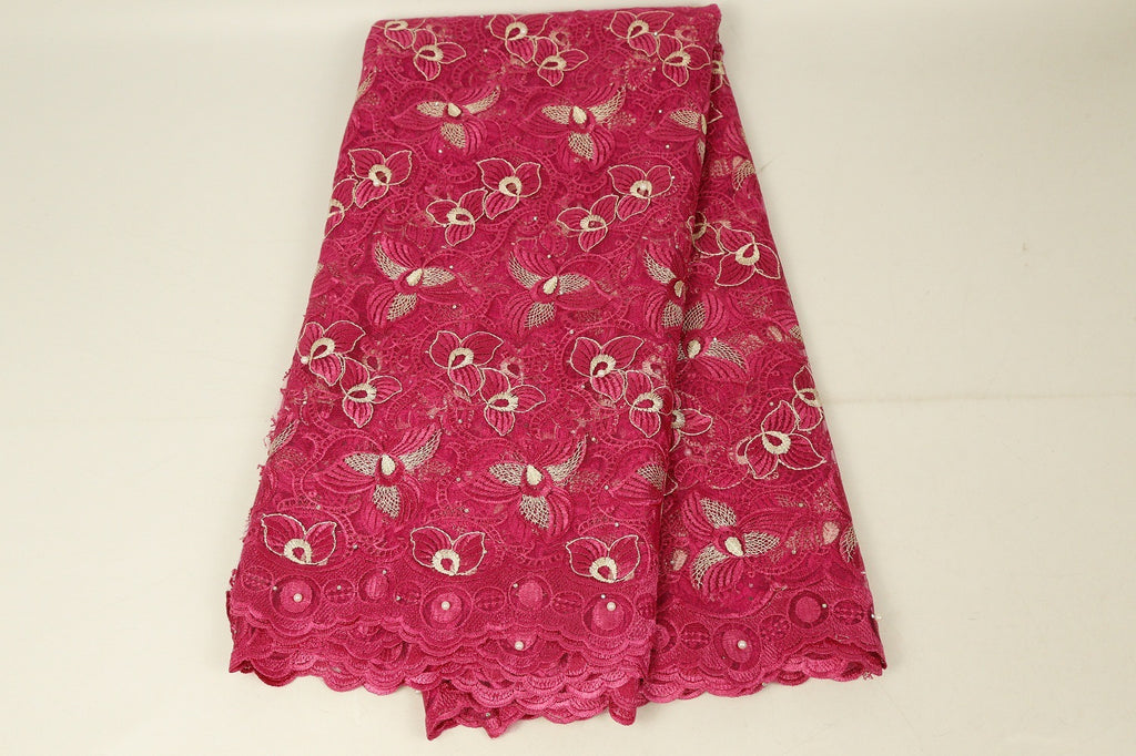 French Nigerian Lace Fabric High Quality Wedding Purple Red Green Embroidery Flower Dress Lace Fabric