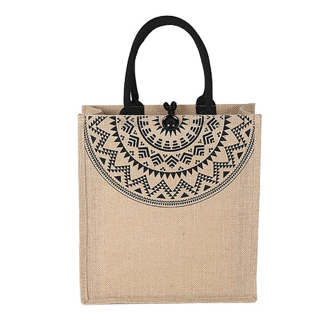 Image of Women Linen Luxury Tote Large Capacity Female Casual Shoulder Bag Lady Daily Handbag Beach bags for women 2019