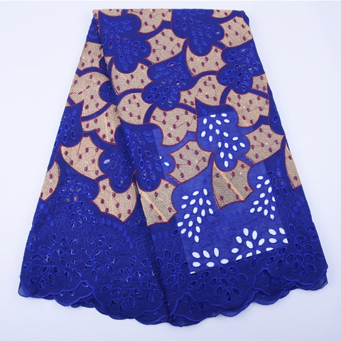 HaoLin African Dry Lace Fabric Swiss Voile Lace Fabric With Stones Soft Embroidery Voile Dry Lace Materials In Switzerland