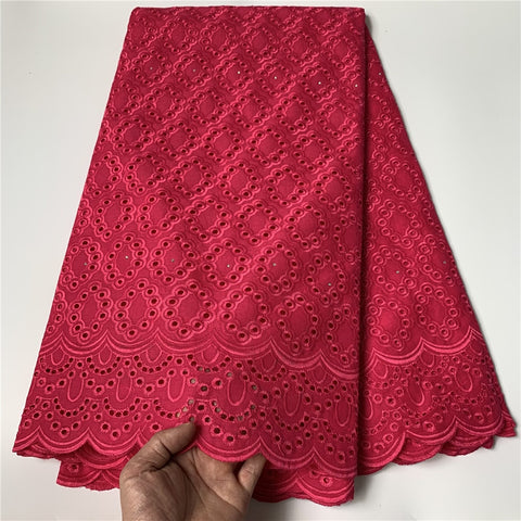 2021 High Quality African Lace Fabric Embroidery Swiss French Tulle Lace Pure Cotton 2.5Yards Prom Dresses Latest Damask Wedding