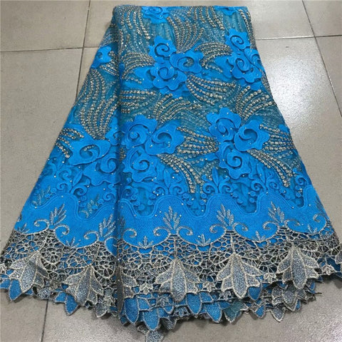 Image of Multicolor Nigerian Mesh Net Lace Fabric African Sequins Lace Fabric High Quality French Mesh Tulle Lace Fabric with Sequins