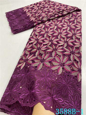 Image of NIAI Swiss Voile Lace Latest african handcut cotton Lace Fabric High Quality nigerian Swiss Voile Lace In Switzerland XY3588B