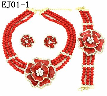 african beads jewelry sets for women necklace pendant wedding costume jewelry set indian jewelry Dubai gold jewelry set