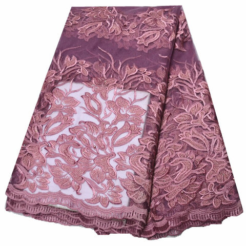 Image of 2019 high quality lace african fabric 5 yards lace fabric with stones latest 2020 african lace fabric