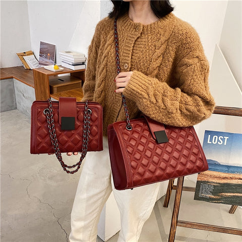 Image of Large Capacity Women Handbag Trending Luxury Handbags Women Bags Designer Chains Big Shoulder Crossbody Bags For Women 2020 Sac