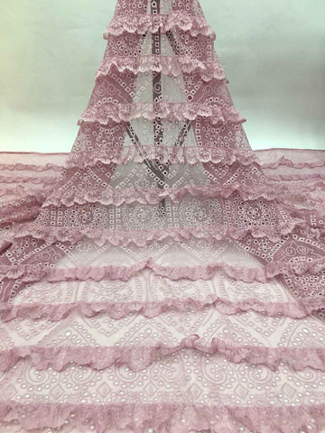 2020 new style lace embroidered net lace fabrics Nigeria party dress sewing lace French laces fabrics tulle laces